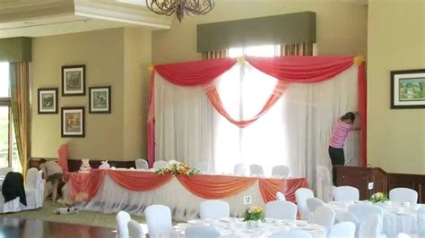 Wedding Backdrop Gta by How To Set Up A Wedding Backdrop Production Toronto