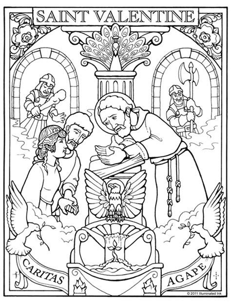 St Valentine Coloring Page Training Saints Coloring Pages For St