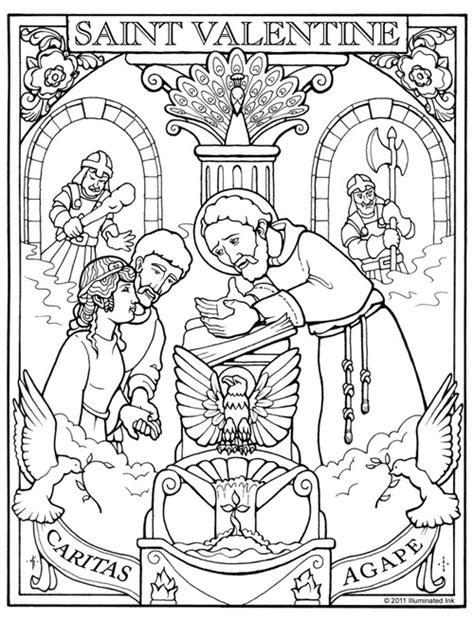st valentine coloring page training saints