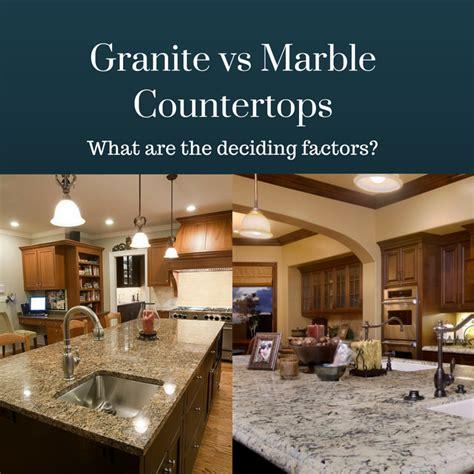 granite vs marble countertops similarities differences