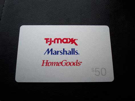 Tj Maxx Gift Cards At Marshalls - tj maxx marshalls homegoods gift card quot balance 0 00 quot collectible card ebay