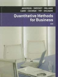 For Business 12e Barnes quantitative methods for business with printed access