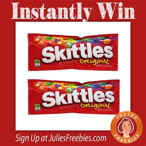 Skittles Sweepstakes - mars chocolate candy bowl sweepstakes and instant win game julie s freebies