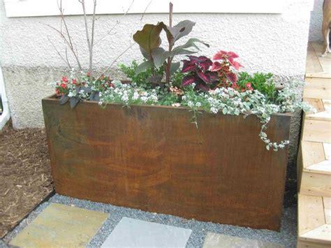 Corten Planter Boxes by Corten Landscape Planters Landscape