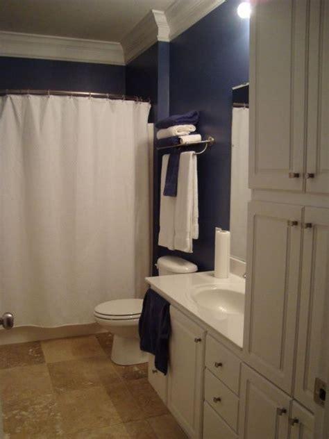 dark blue bathrooms dark blue bathroom 1 home bathroom pinterest