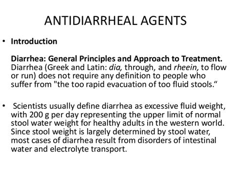 Regular Stool Followed By Diarrhea by Antiemetics And Antidiarrheal
