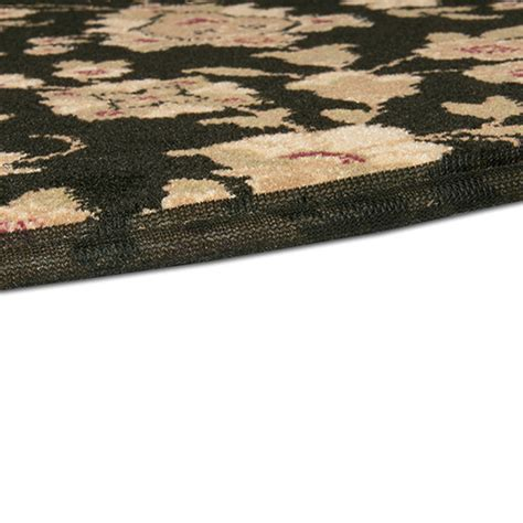 black hearth rug goods of the woods floral black half hearth rug 27 inch x 48 inch