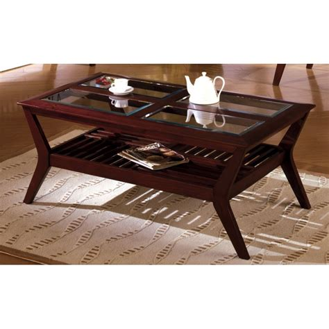 houston cherry glass coffee table home furniture