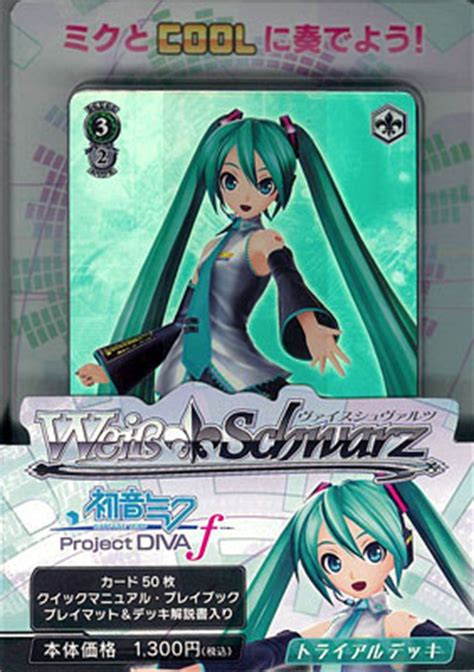 project weiss schwarz amiami character hobby shop weiss schwarz trial deck