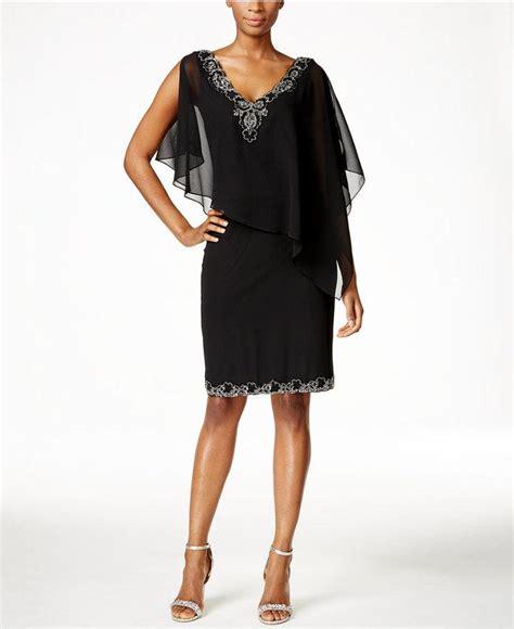j kara beaded chiffon gown j kara beaded flutter sleeve chiffon dress 2458389 weddbook