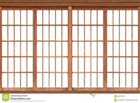 shoji traditional japanese door window stock photo