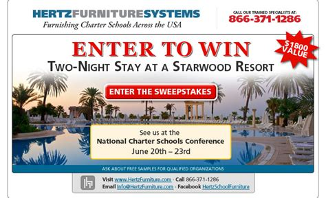 Charter Sweepstakes - hertz furniture launches contest to support national charter schools conference