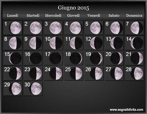 Calendario Giugno 2015 Calendario Lunare 2015 Fasi Lunari