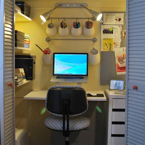How to turn an apartment closet into an office athomesense com