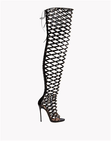 Dsquared2 Xenia Studs Sandal Boots, High Heeled Sandals Women   Dsquared2 Online Store