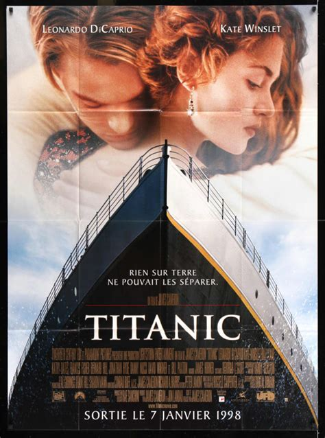 film titanic video francais titanic 1997 vintage french grande movie poster 46 x