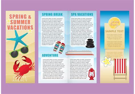 vacation brochure template vacations brochure template vectors free vector