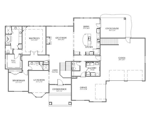 rambler floor plan best ideas about rambler house plans also 3 bedroom floor