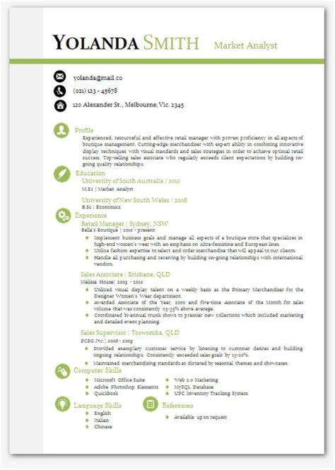 word template resume cool looking resume modern microsoft word resume template
