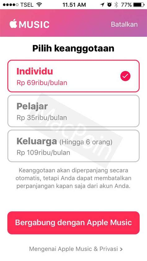 apple music indonesia apple music student membership hadir di indonesia macpoin