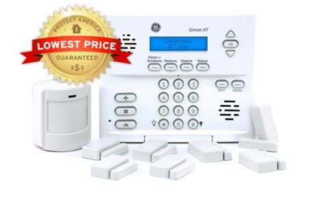 wireless home security alarm systems bronze package