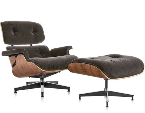 Herman Miller Lounge Chairs by Eames 174 Lounge Chair Ottoman In Mohair Supreme
