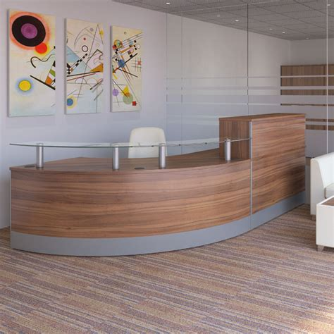 New Reception Desk New Curved Reception Desk With Glass Sign In Area Reception Desk Glass Reception Counter