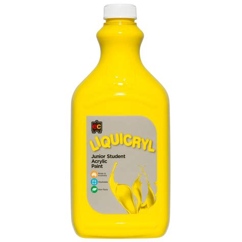 acrylic paint yellow zeclc2yl liquicryl junior acrylic paint 2 litre