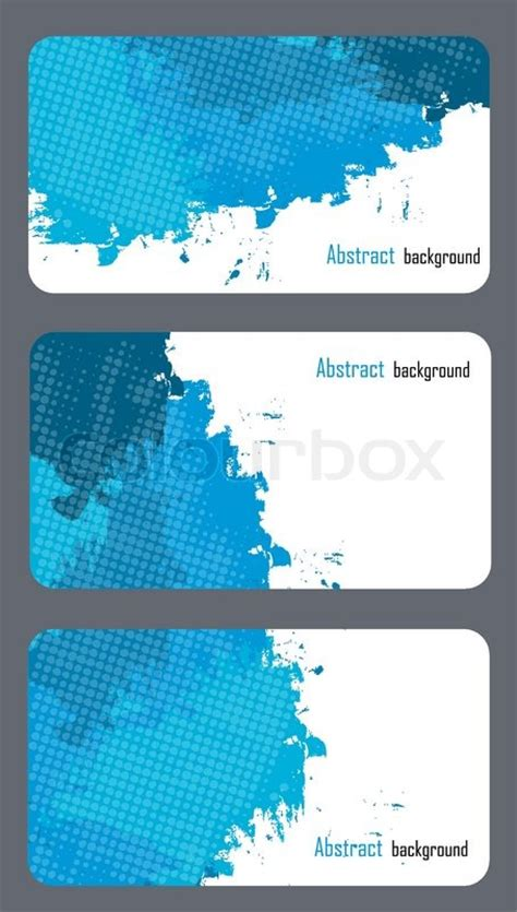 Business Card Templates With Abstract Background Stock Vector Colourbox Card Background Templates 2