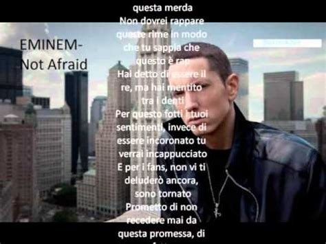 testo not afraid eminem not afraid traduzione italiano