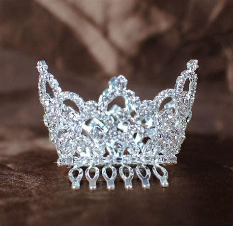mini tiaras w hair combs rhinestone wedding crowns for child flower ebay