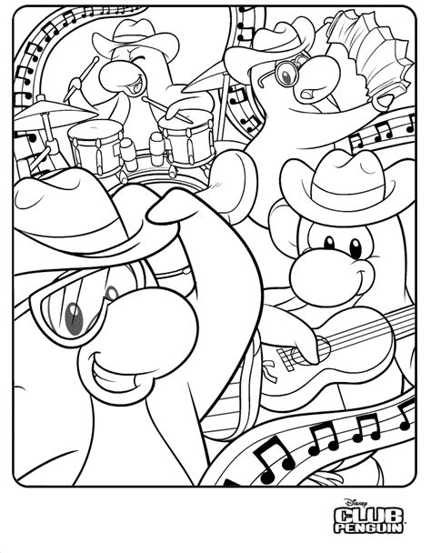 disney club penguin coloring pages