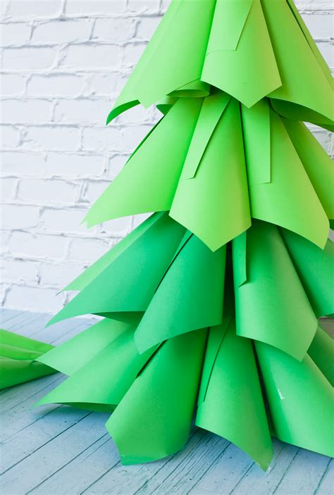 giant ombre paper cone christmas trees a diy tutorial