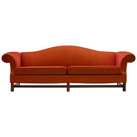 Camel Back Loveseat contemporary camel back sofa at 1stdibs