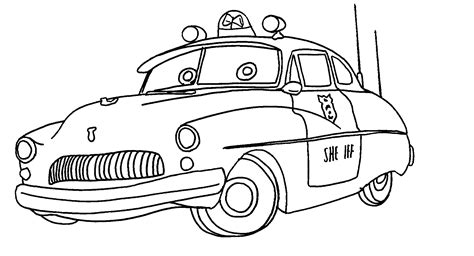 sheriff cars coloring pages cars luigi and guido coloring page cars sheriff