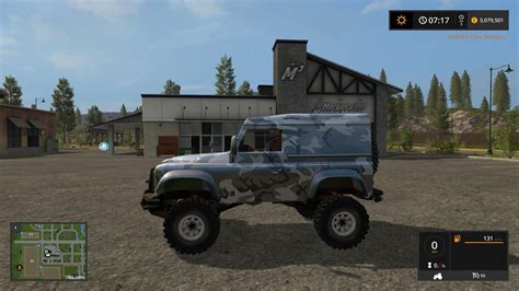 land rover mod land rover defender 90 v1 fs17 farming simulator 17 mod