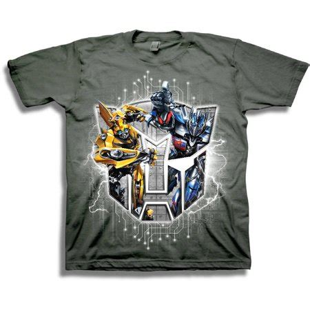 T Shirt Transformer 5 Bumblebee boys autobots bumblebee and optimus prime sleeve