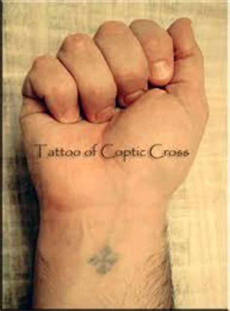 coptic wrist tattoo coptic