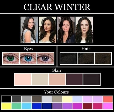hair color for winter complexion hair colors for winter skin tones