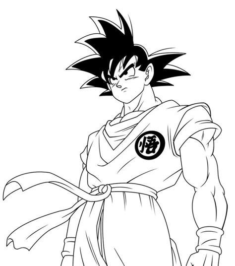 Imagenes De Goku A Color Para Imprimir | goku para colorear dibujos para descargar y pintar