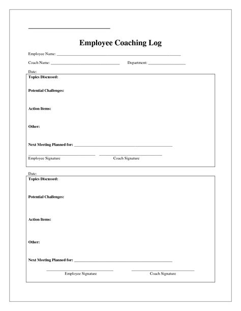 free coaching templates coaching log template search coaching