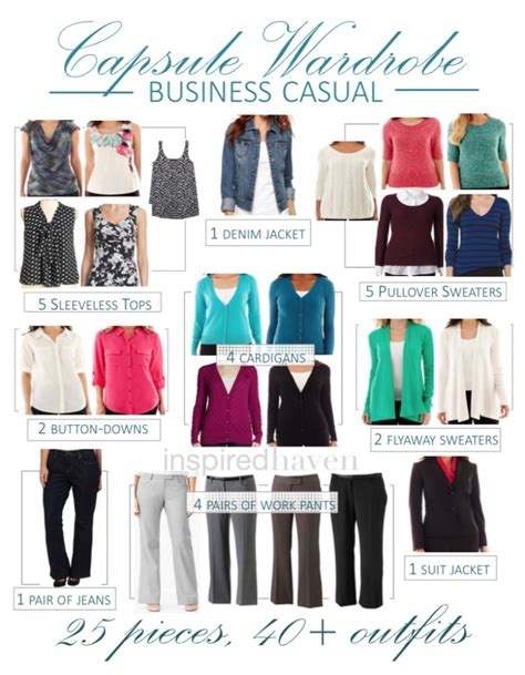 Business Casual Wardrobe by How To Create A Capsule Wardrobe Inspired