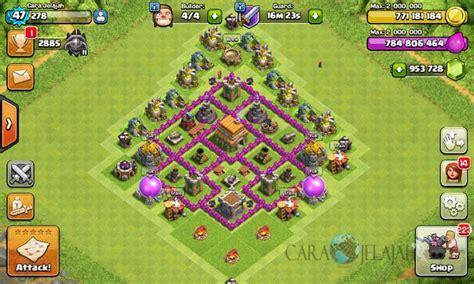 desain layout th 6 desain base trophy clash of clans town hall 6 update 2017