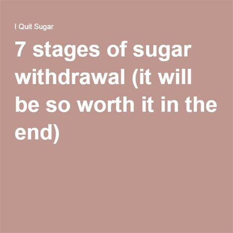 Stages Of Detox by The 7 Stages Of Sugar Withdrawal And Why It S All Worth