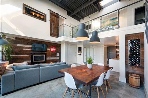 houzz esszimmer beleuchtung vancouver loft vintage modern industrial esszimmer