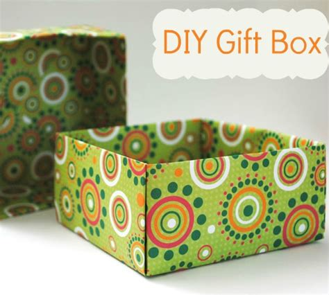 Make Paper Gift Box - home made gift boxes origami to fold a box