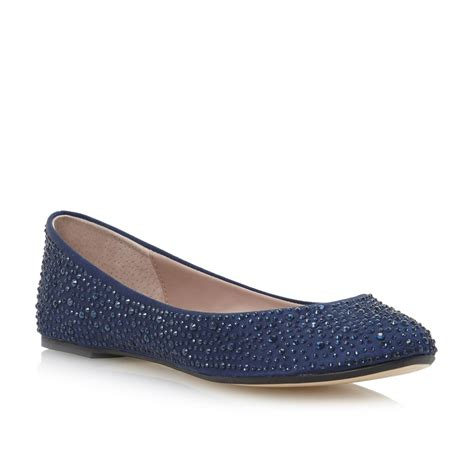flat navy blue shoes dune marthas navy blue womens diamante flat