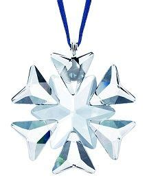 2007 swarovski crystal christmas snowflake star annual ornament 1000 images about home swarovski annual snowflakes on white ribbon