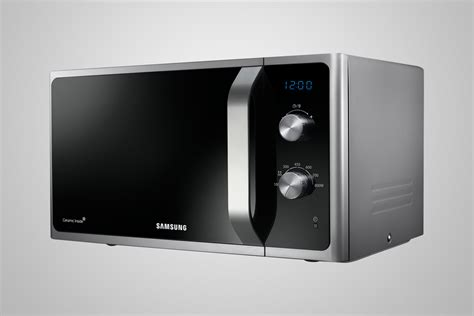 samsung ms23f301eas silver microwave 23 litres