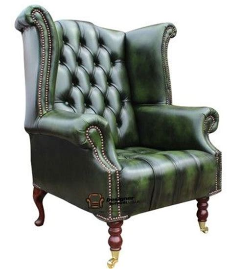 green leather chesterfield armchair chesterfield dorchester high back wing chair antique green